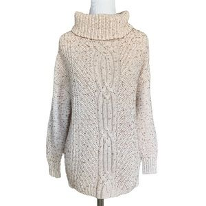 Land's End cable knit sweater size S